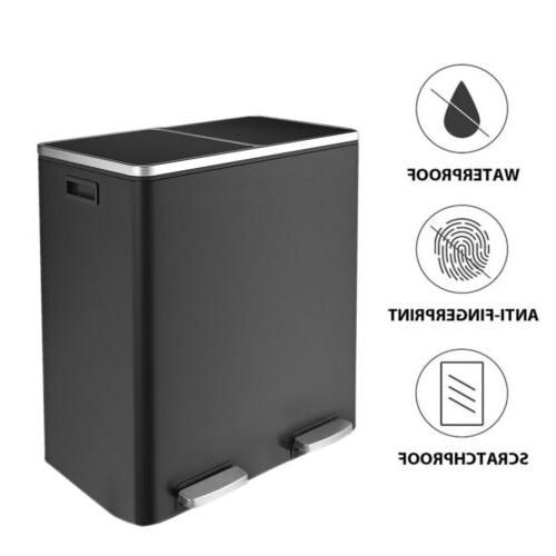 60 l stainless steel step trash can