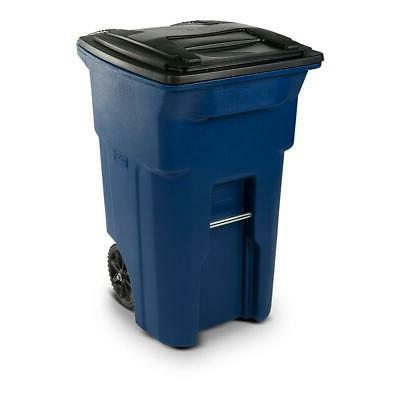 64 gal blue trash can with wheels