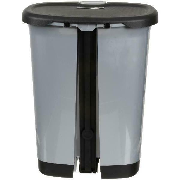 Hefty Textured Step-On Trash Can With Lid Lock And Bottom Cap, Multiple