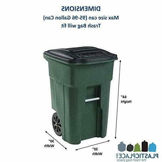 95 Gallon Garbage Bags Lid Waste Bin Wheel..