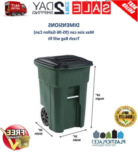 95 Gallon Lid Garbage Waste Bin