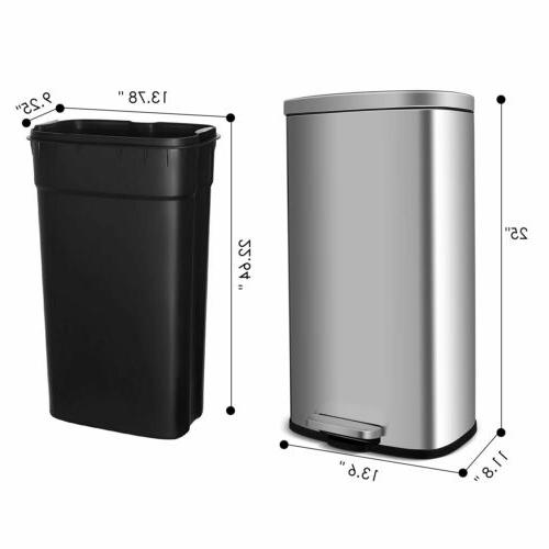 30L Stainless Trash Can w/ Kitchen