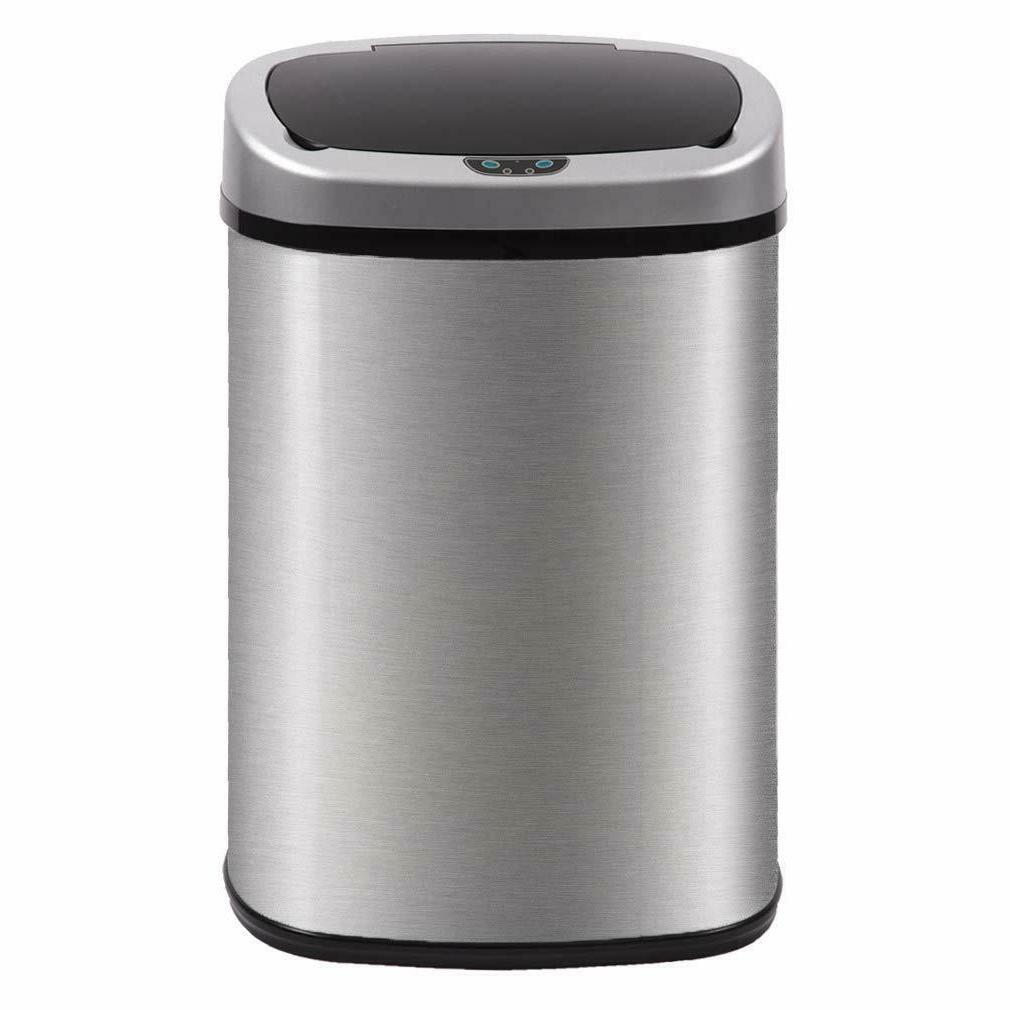 best automatic kitchen office trash can brushed