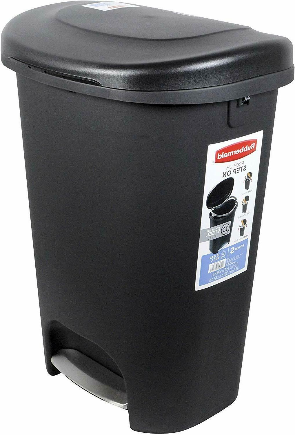 step on lid trash can for home