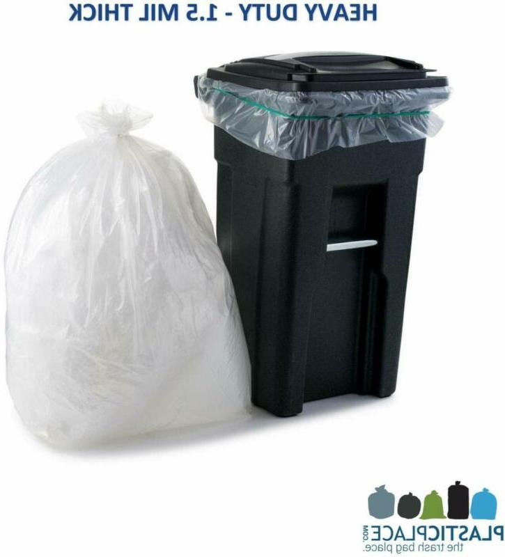 Garbage Can Clear Trash Bags Container Outdoor Bin Basket Kit