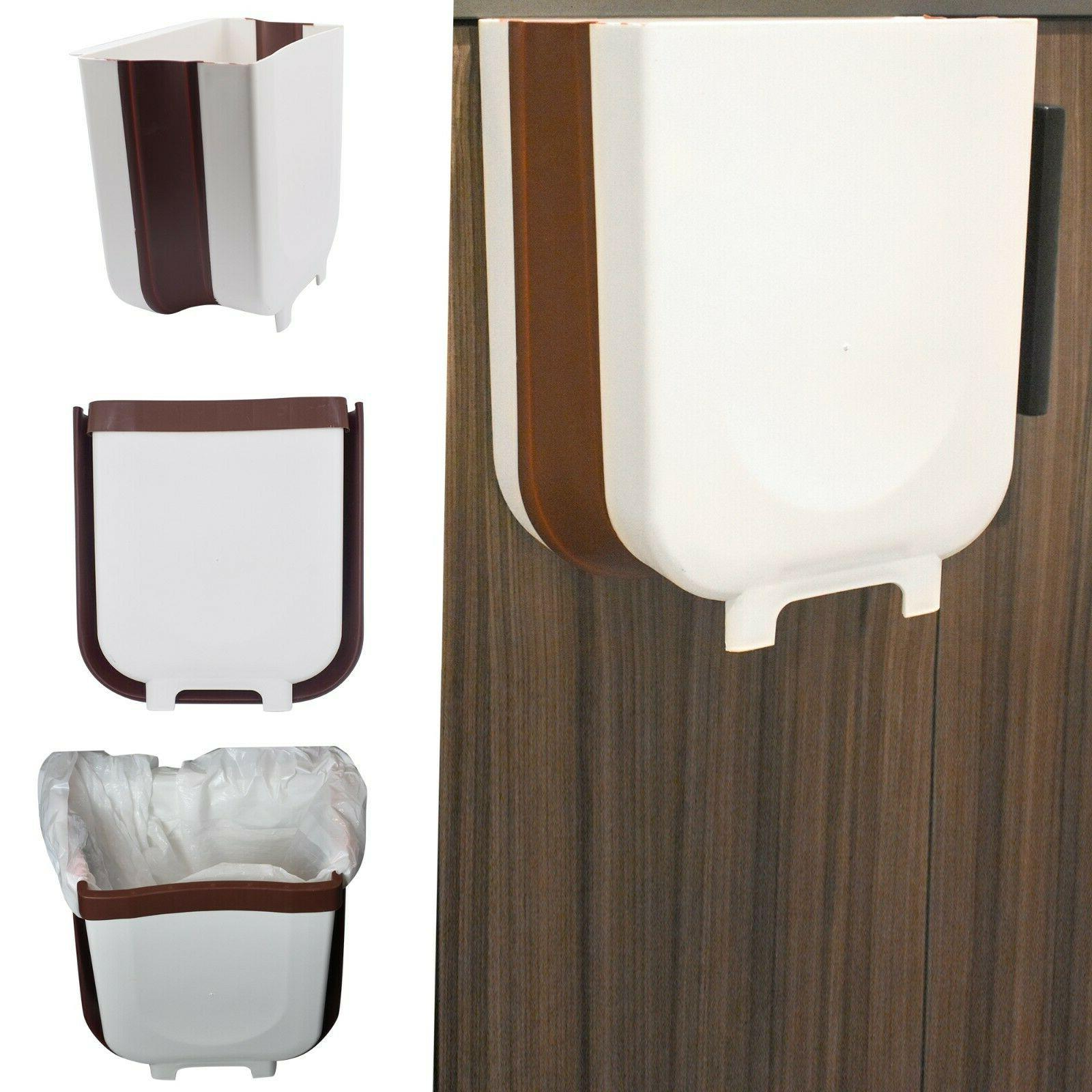 hanging trash can for kitchen cabinet folding