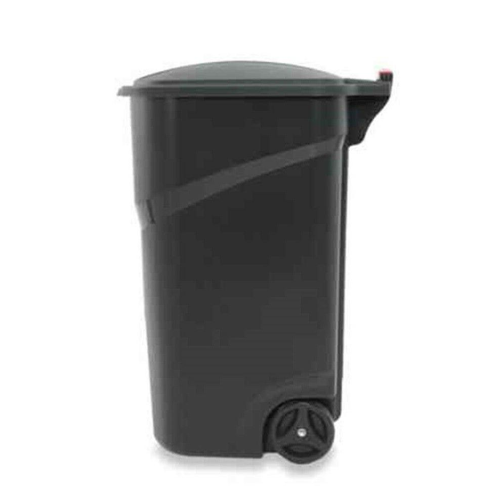 Trash Can with Hinged Lid