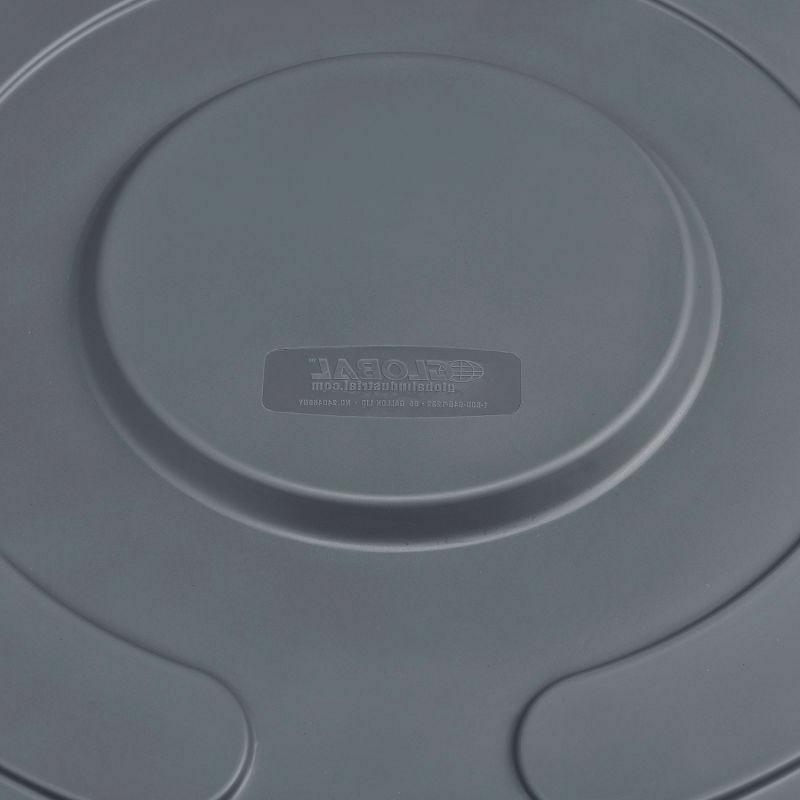 Long Lasting Polyethylene Resin Trash Container Lid, Can Gallon