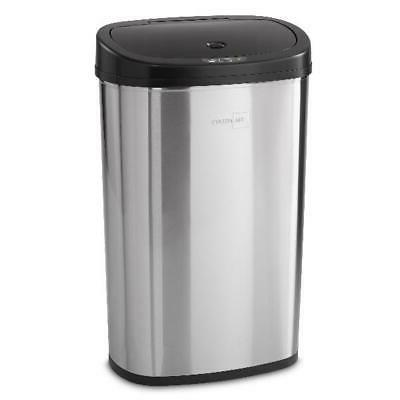 Kitchen Trash Can 13.2 Gallon Stainless Steel with Motion Se