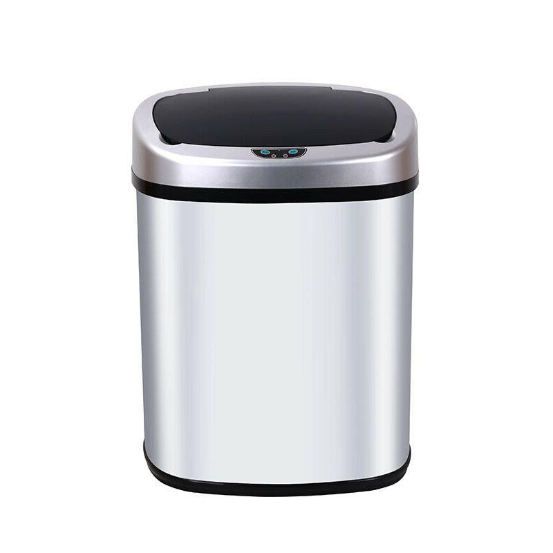 New 13-Gallon Touchless Trash Office Ash Bin