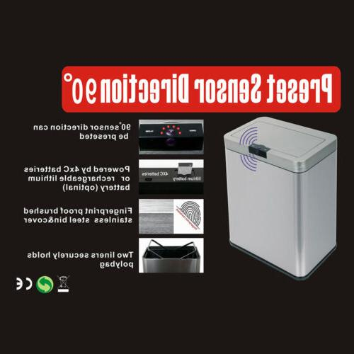 13 Gallon Stainless Automatic Can Touchless Bin Lid