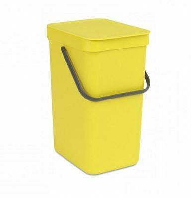 New Brabantia Go Yellow Garbage Can Litter Waste