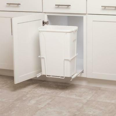 Plastic Can White Kitchen Pantry Home