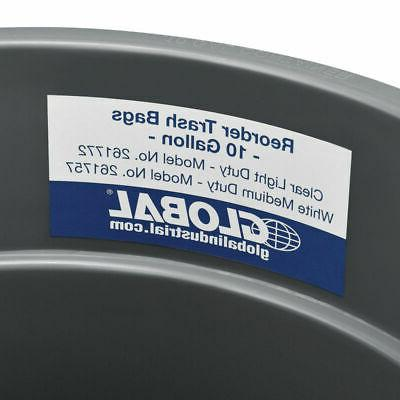 Global Trash Container, Can - 10 Gallon