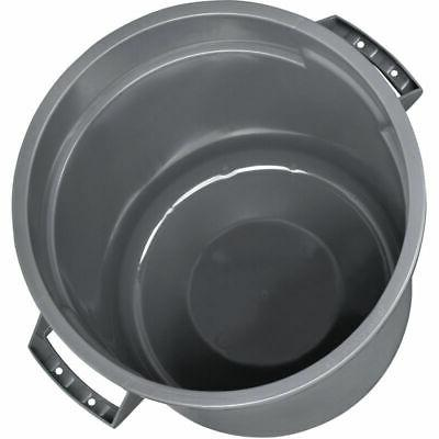 Global Container, Garbage Can 10 Gallon Gray