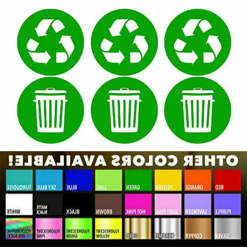 Recycle Sticker Label for Home Kitchen cans