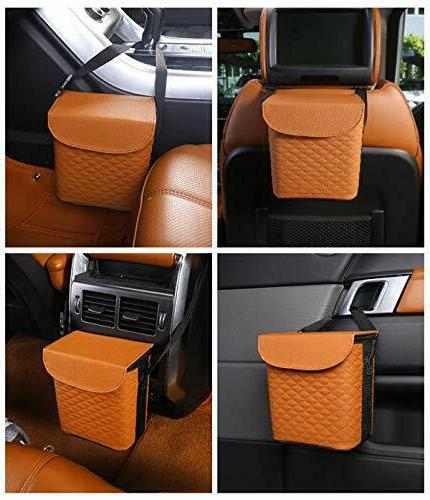 Luxxe Refined Car Garbage with Matching Tissue Box