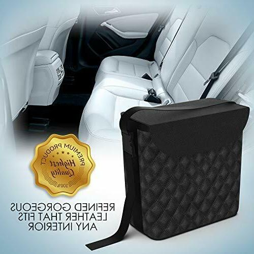 Luxxe - Refined Car Trash Car Garbage Can with Matching