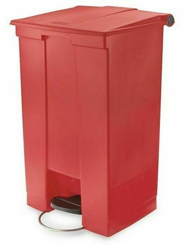 rubbermaid commercial plastic 23 gallon step on