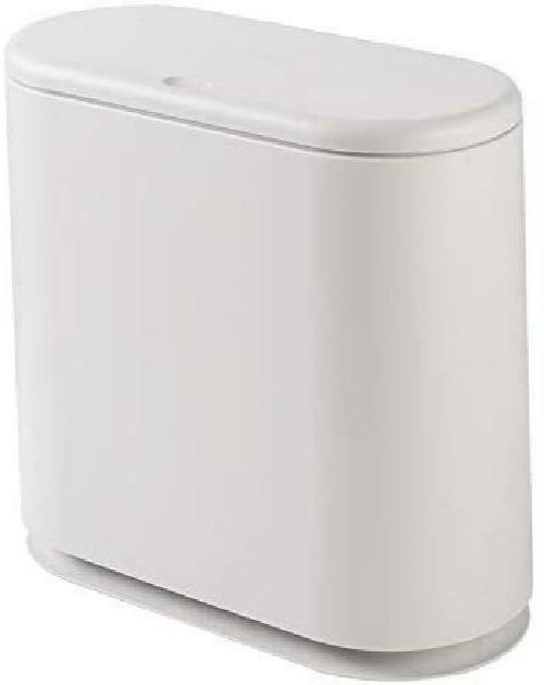 PENGKE Slim Plastic Trash Can 2.4 Gallon Garbage Can with Pr