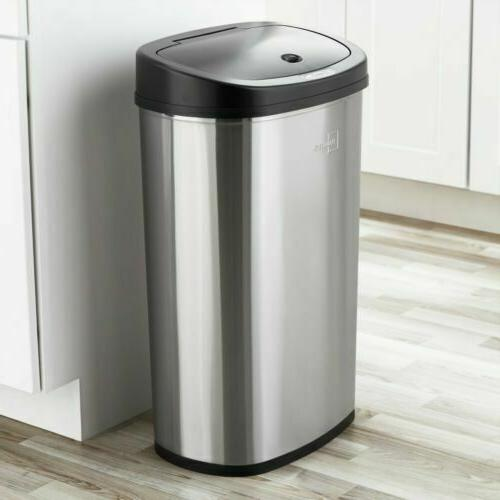 touch free trash can 13 gal stainless