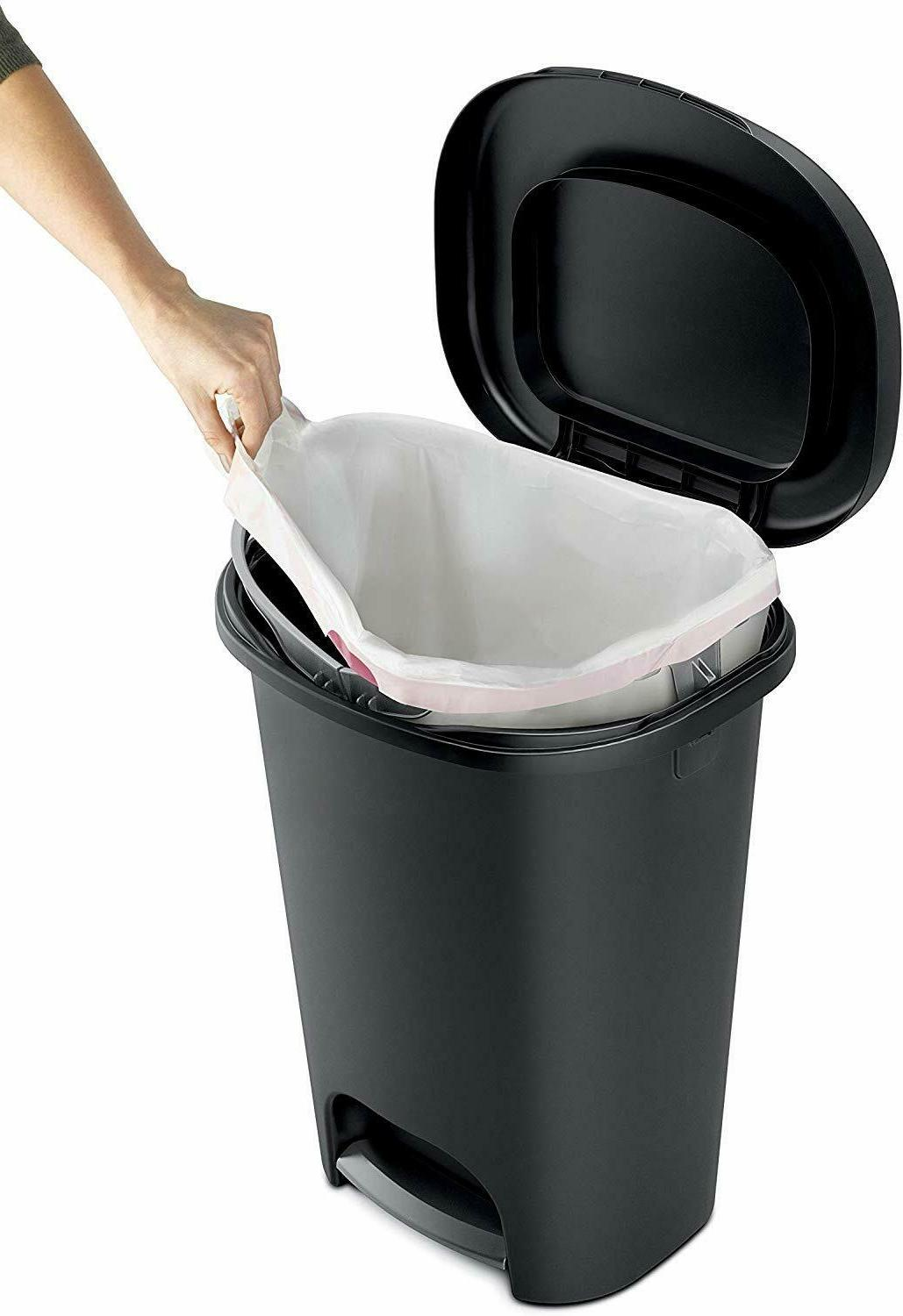 Rubbermaid Step-On Can Home,Kitchen,Bathroom Garbage,13 Gallon