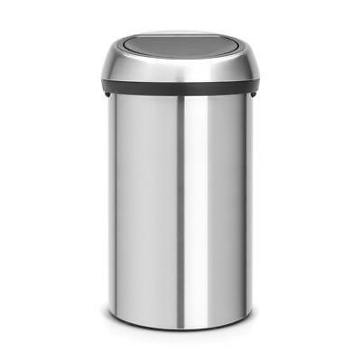 touch top trash can 16 gal stainless