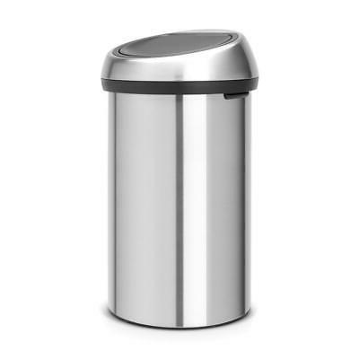 Brabantia Top Can 16 Gal. Stainless Steel Finger Resistant