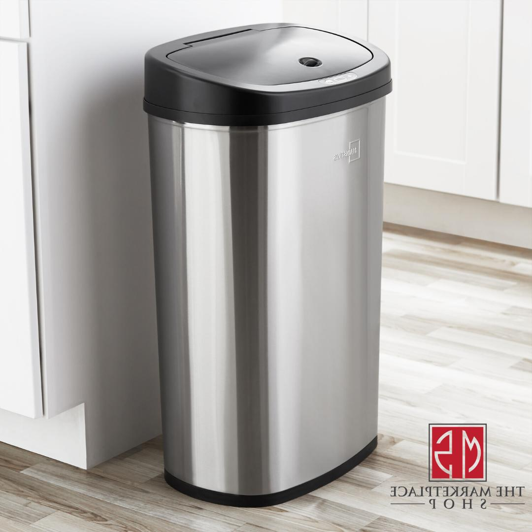 Trash Can STAINLESS Sensor 13 Kitchen