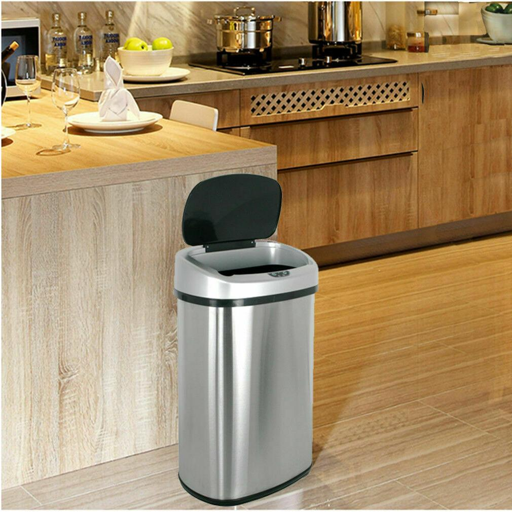 Trash Can Touchless Sensor Automatic Steel Touch Motion