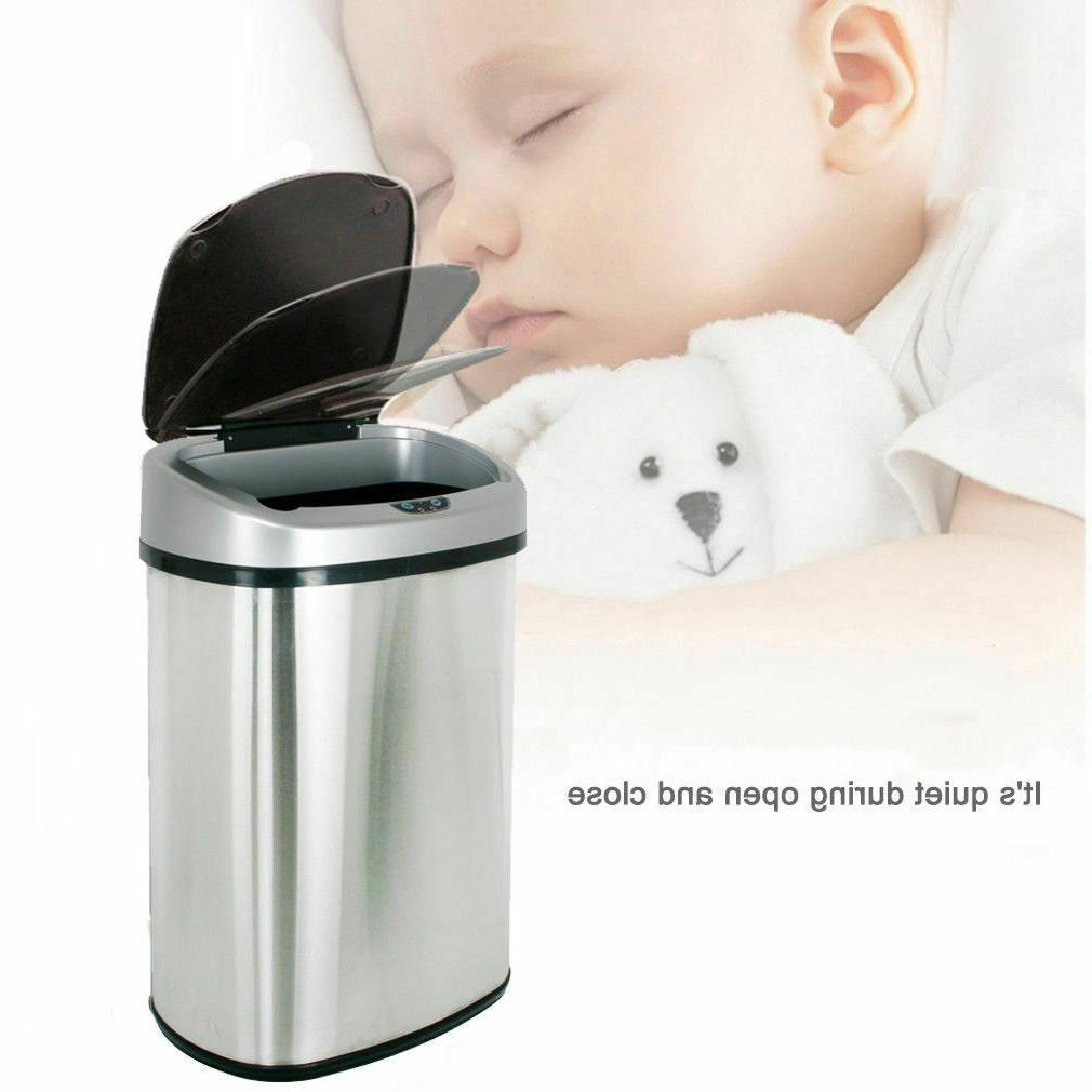Trash Can Sensor Automatic Stainless Touch