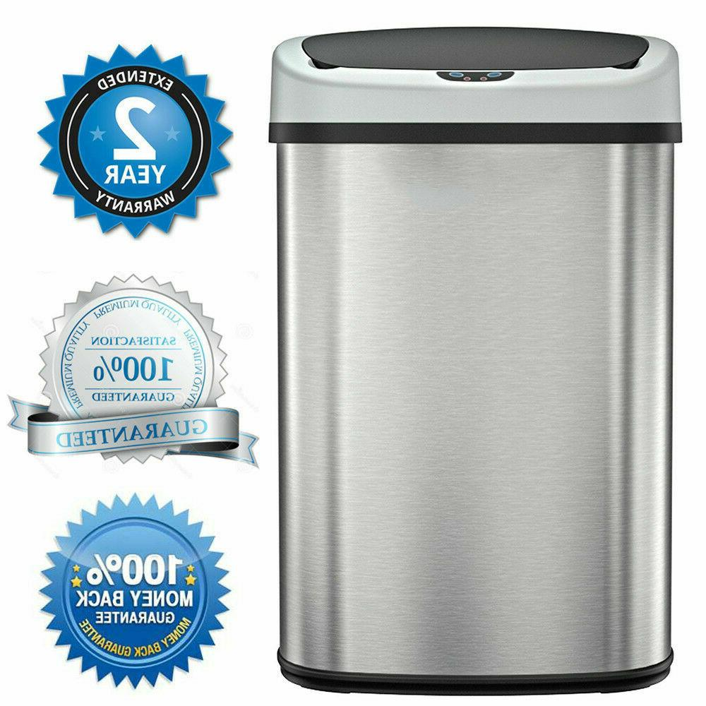 trash can garbage touchless sensor automatic stainless