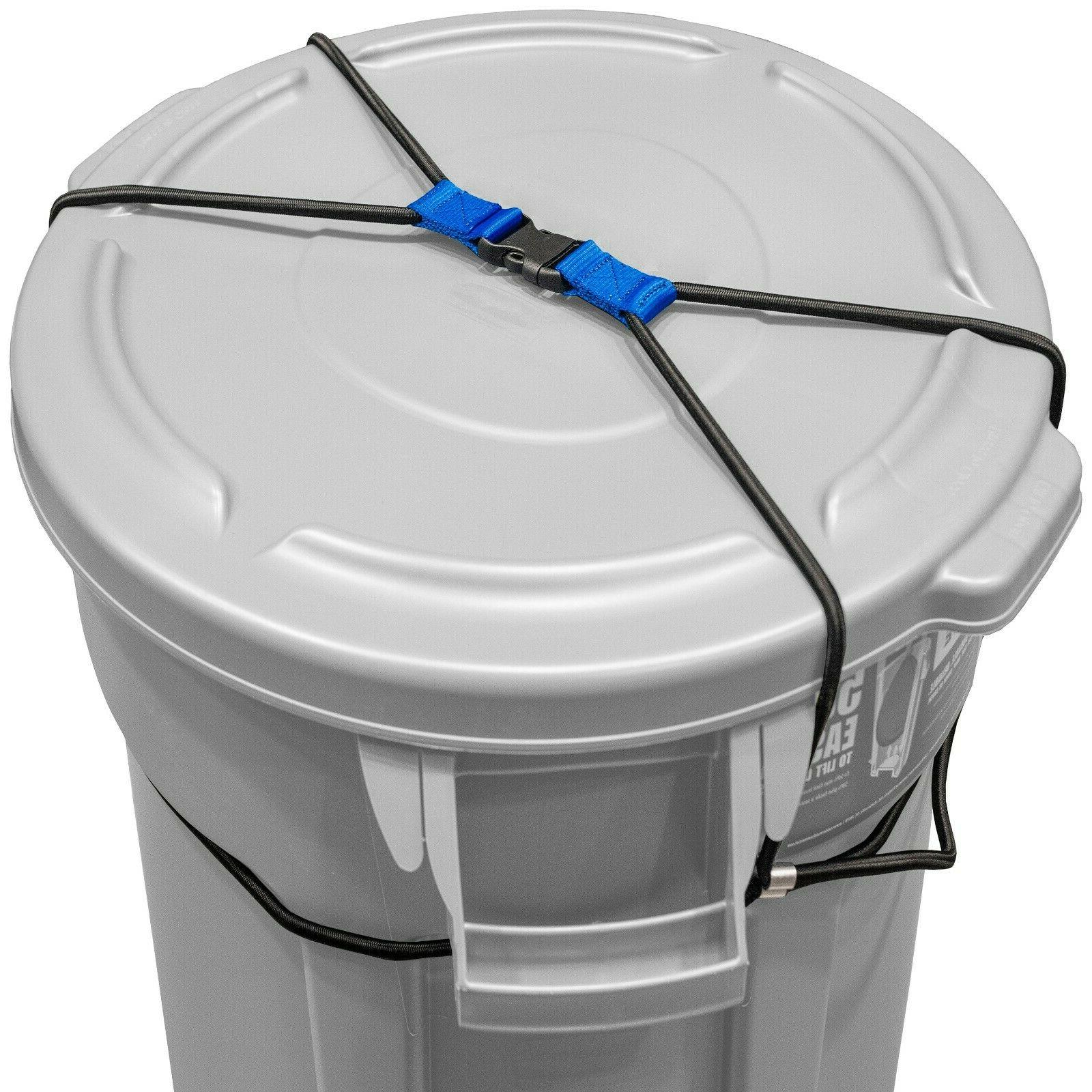 Outdoor TRASH for Animals Heavy Duty Cord Garbage Lid