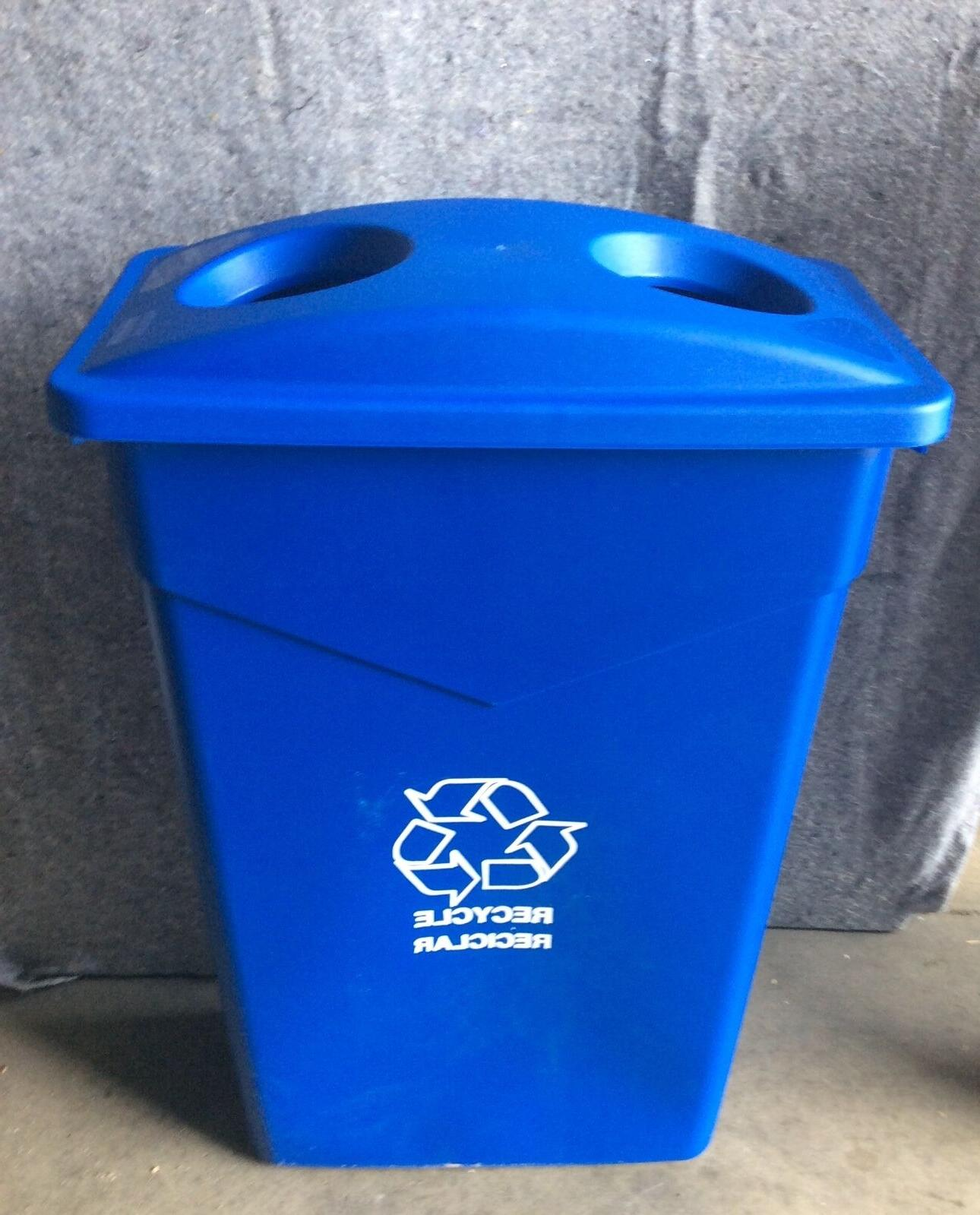 Blue Trash Can Indoor/Container Bin