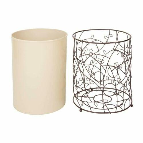 iDesign Twigz Metal and Plastic Wastebasket Trash Can Can
