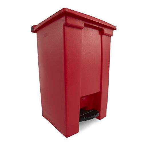 Step On Waste Container - 12 Red