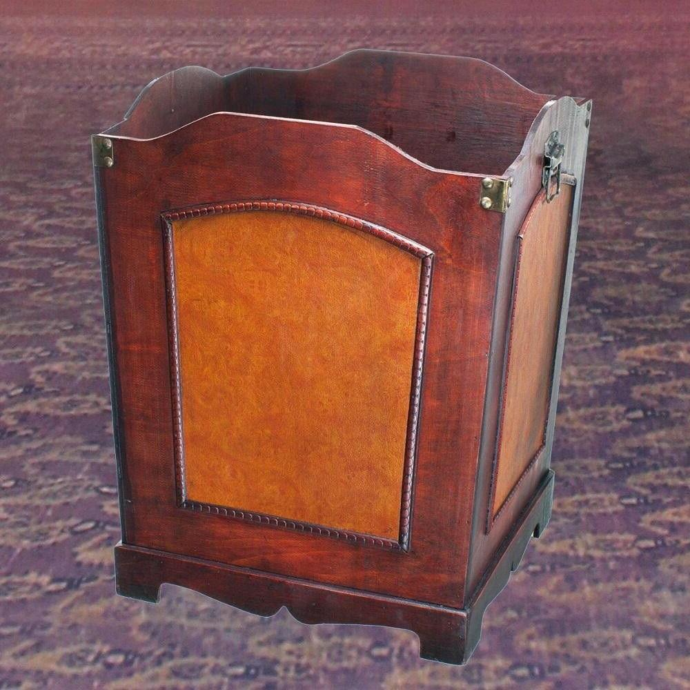 Wood Trash Bin Container