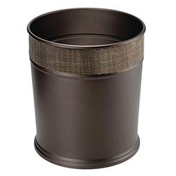 mDesign Decorative Round Small Trash Can Wastebasket, Garbag