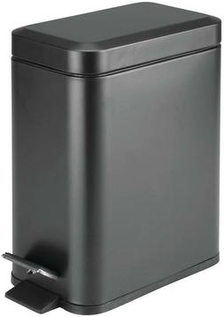 Mdesign 1.3 Gallon Rectangular Small Step Trash Can Wastebas