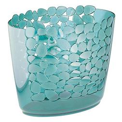 mDesign Decorative Oval Trash Can Wastebasket, Garbage Conta