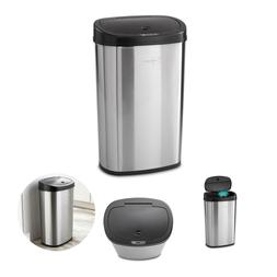 Motion Sensor Garbage Trash Can Touchless 13.2 Gallon Stainl
