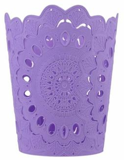 new 3 pc wastebasket hollow pattern solid