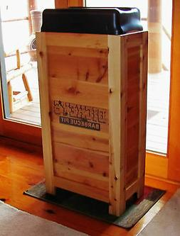 NEW COMMERCIAL RESTAURANT WOOD TRASH BIN GARBAGE CAN 50 GAL