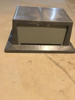 New Continental Rectangular  Trash Can Lid Gray T7318GY
