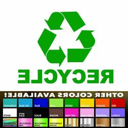 Recycle Sign Decal Die Cut Vinyl sticker for Trash Cans Cont