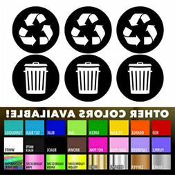 Recycle Sticker Trash Bin Label Decal for Home Kitchen Offic