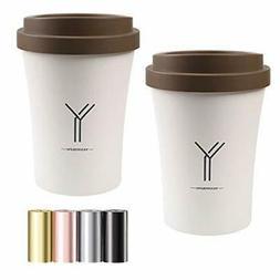 OceanEC Recycling Trash Can with Lid, 2PCS Pack Coffee Cup