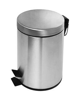 Estilo Round Brushed Stainless Steel Step Trash Can 3L - Fin