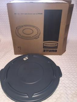 Round Brute Lid For 32 Gallon Waste Containers, 22 1/4 Dia,