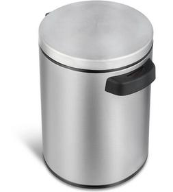 Round Stainless Steel Trash-Can 1.3-Gallon Touch-Free Motion